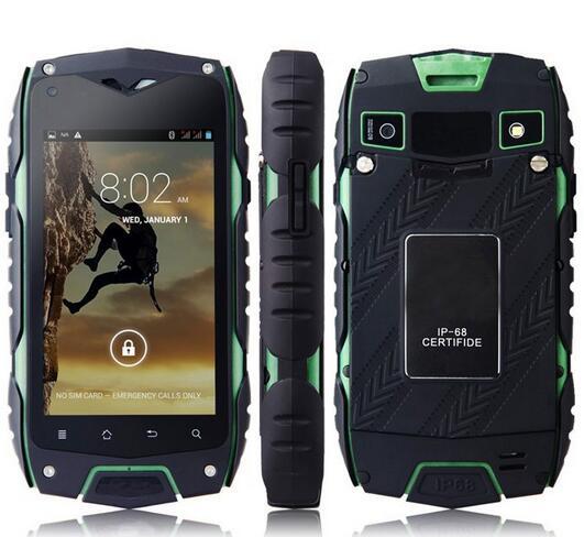 JEEP Z6 MTK6572 Dual Core Waterproof Mobile Phone 4.0incn IPS 512MB RAM 4GB ROM Android 4.2 5MP GPS WCDMA 3G Dual SIm Smartphone