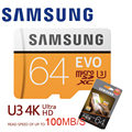 Cartão sd c10 u3 u1 do flash do transf da carte c10 u1 de samsung micro sd 32 gb 64gb 128gb cartão de memória 10 microsd 32 gb sdhc/sdxc tarjeta