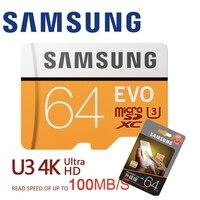 SAMSUNG Micro SD 32 Гб 64 Гб 128 Гб карта памяти класс 10 Microsd 32 Гб SDHC/SDXC TF карта C10 U3 U1 транс флэш SD карта