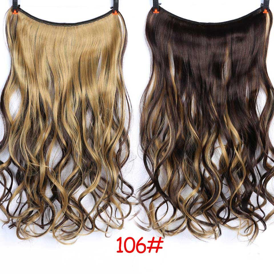"""SHANGKE 2"""" флип-на проволоке в синтетическом скрытом невидимом не клип в головном повязке прямые высокотемпературные волокна для наращивания волос - Цвет: #31"""