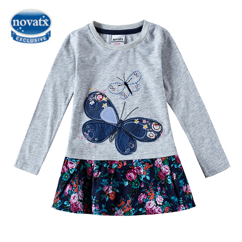 Girls Clothes Girls Dress Princess Dress For Girls Nova Kids Clothing Butterfly Winter Autumn Mini Girls Dresses 2016 H5460