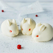 TRTLIFE Silicone 3D Rabbit Cake Mold Chocolate Truffle Bakeware Mousse Mould Dessert Maker Baking Pastry Decorating Accessories cute 3d eastern bunny silicone rabbit shape cake chocolate desser mold mousse cake mould cupcake topper baking pastry decorating