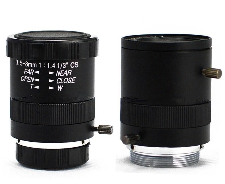 3.5-8mm manual aperture lens, outdoor monitoring can zoom lens, gun type lens 1 / 3 target CS interface ,Manual aperture zoom aperture искусство