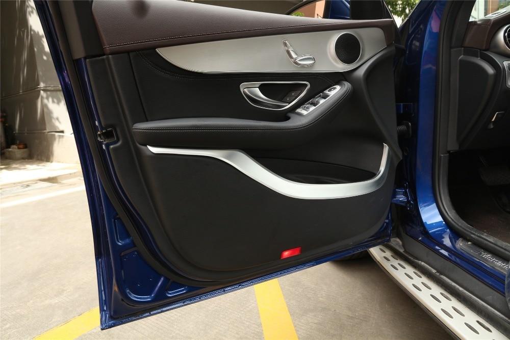 Pour Mercedes Benz GLC classe X253 220 260 300 2015-2017 voiture intérieur porte panneau décoration bandes moulage garniture accessoires 4 pièces