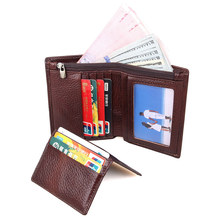 Genuine Leather Fashion Mens Wallet Card Holder Money Coffee R-8142-2C
