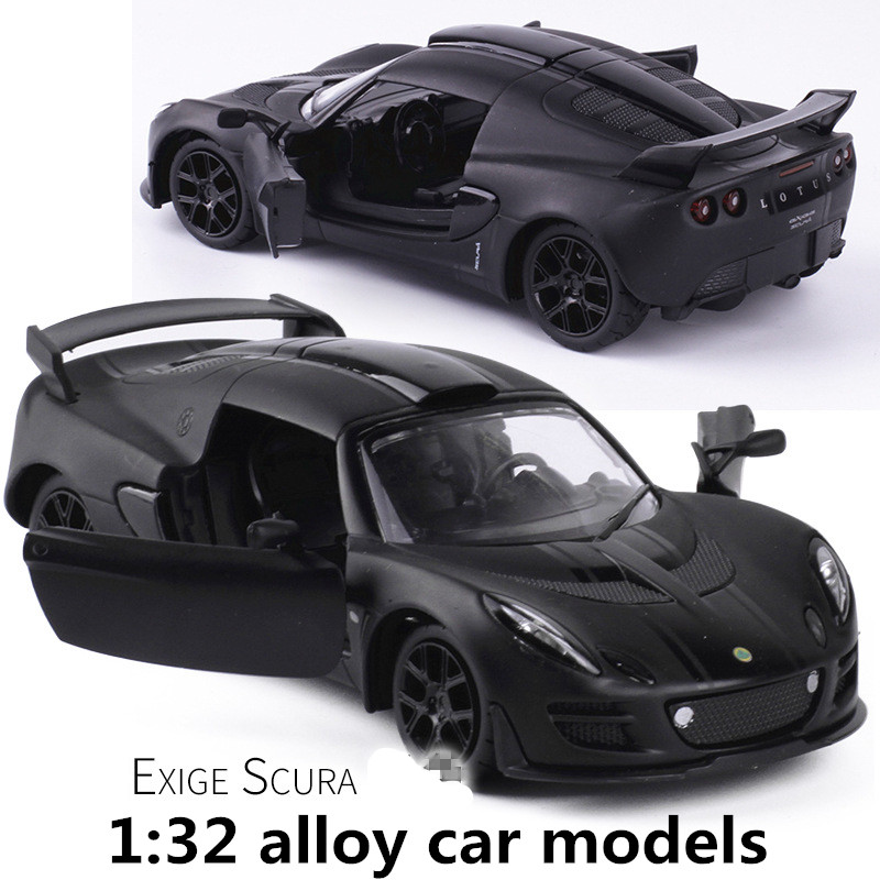 1:32 Alloy Car Models,high Simulation Lotus Sports Car Toy Vehicles,metal Diecasts,pull Back & Flashing & Musical,free Shipping