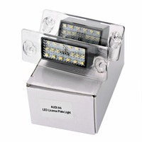 HengChiLun 2PCS 12V 6000K LED License Plate Light Led Bulb Number Plate Lamp For Audi A4