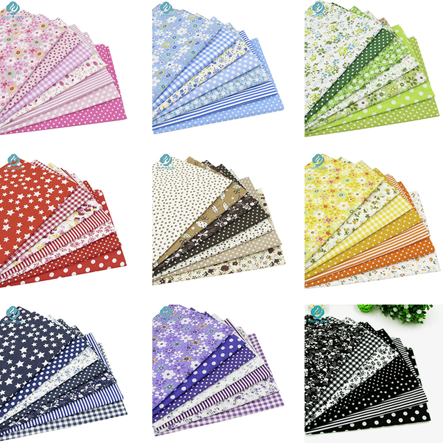 20cmx25cm, 25x25cm Or 10x10cm Cotton Fabric Printed Cloth Sewing Quilting Fabrics for Patchwork Needlework DIY Handmade Material 2
