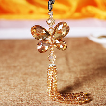 Austria high-grade Butterfly Crystal Pendant car rearview mirror ornaments car interior decoration fashion lady lovely animal