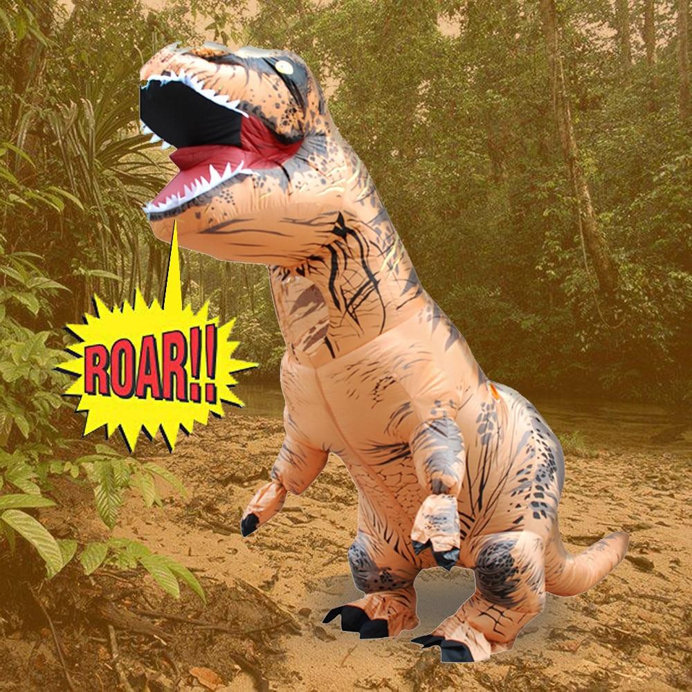 Inflable T-Rex dinosaurio  traje de fiesta juguetes al aire libre juego educativos niños 9