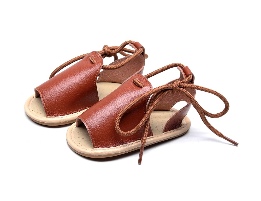 New Lace-up Baby Sandals For Girls Boys Toddler Infant Sandals Newborn Baby Slip-resistant Slippers Prewalker Beach Sandal Shoes
