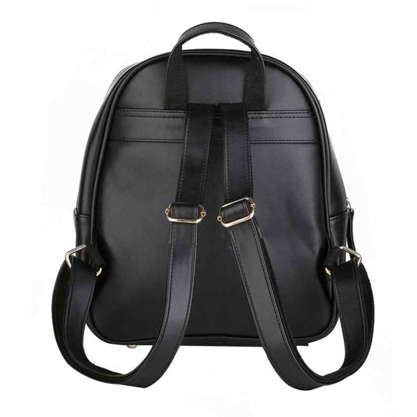 deb6493e4706 ... Cat Рюкзак кожаный рюкзак Для женщин Школа Мини рюкзаки для  девочек-подростков мальчиков рюкзаки Повседневное