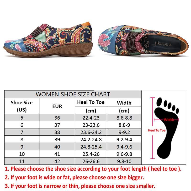 SOCOFY Folkways الشقق الزهور نمط جلد طبيعي الربط سوار مطاطي من الجاكارد الانزلاق على حذاء مسطح النساء أحذية الصيف-في أحذية نسائية مسطحة من أحذية على  مجموعة 3