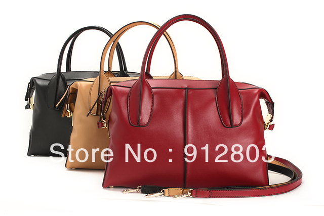PROMOTION!! 2013 Fashion Quality Women's GENUINE LEATHER Handbag, Cowhide One Shoulder Cross-body Messenger Totes Stylish Bag