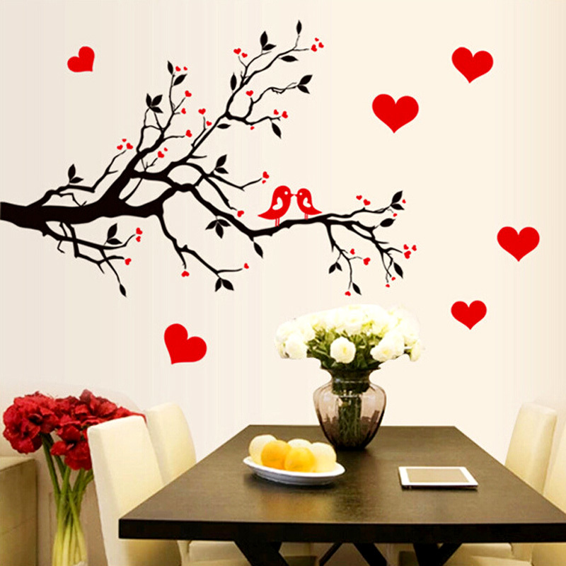 Diy Wall Art Decal Decoration Tree Branch Birds Sticker Home Decor Vinyl  Mural Stickers Wallpaper House In From Garden