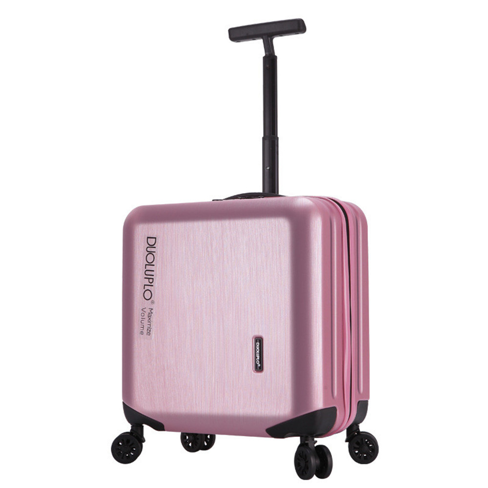 New Fashion 18 inch luggage wheels password box female commercial computer luggage trolley luggage men women fresh small Luggage ruffle trim solid tee