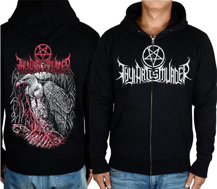 21 style Zipper Pullover Thy Art Is Murder Eagle Cotton Rock Black Hoodies jacket punk hardrock sweatshirt fleece sudadera