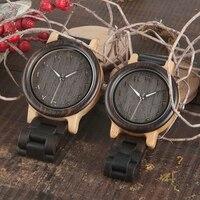 2017 New Brand BOBO BIRD Watches Men Wooden Band 2035 Wristwatches Top Watch For Women As