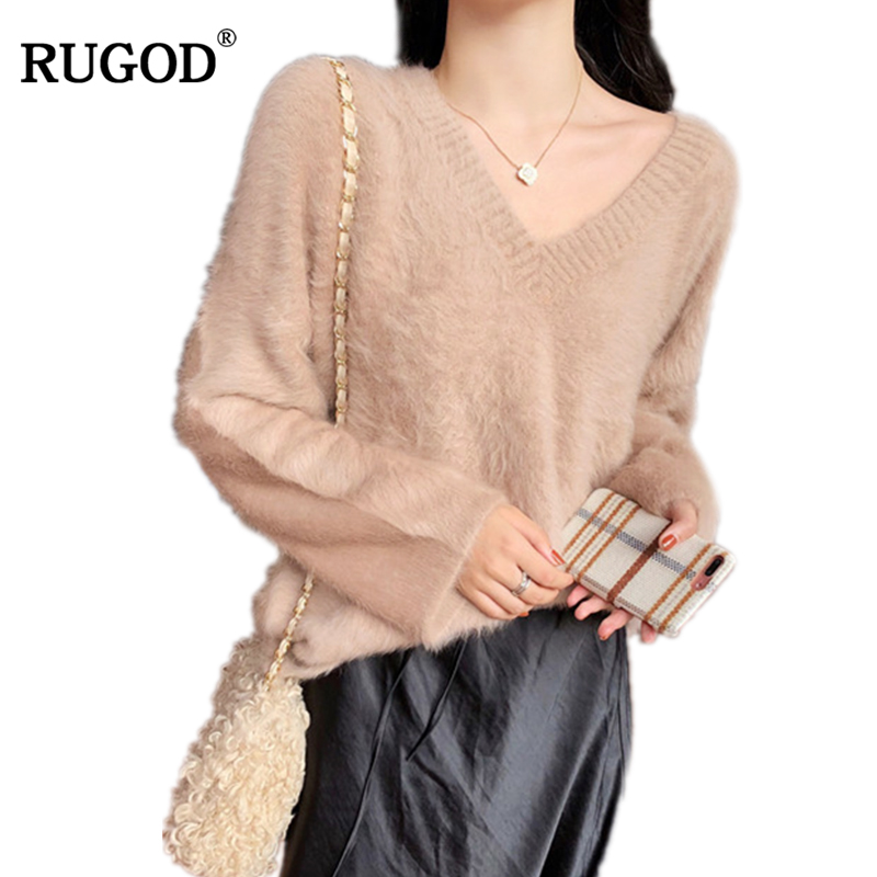 RUGOD Long Sleeve Sweater Women Solid Casual Pullovers Women 2018 Autumn Winter New Korean Sweater Women Clothes sueter mujer