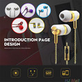 Super Bass In-Ear Earbuds Stereo sound Braided Headset Wire Earphone head set w/ Mic for phone mp3 player