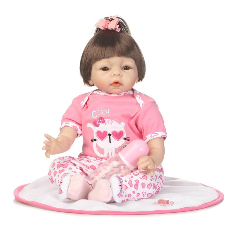 55cm bebe gift doll reborn soft Silicone Reborn babies With Cotton Body Dressed in Nice clothes Lifelike newborn babies girls 55cm bebe gift doll reborn soft Silicone Reborn babies With Cotton Body Dressed in Nice clothes Lifelike newborn babies girls