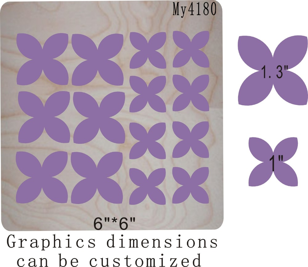 Purple petals new wooden mould cutting dies for scrapbooking Thickness 15 8mm