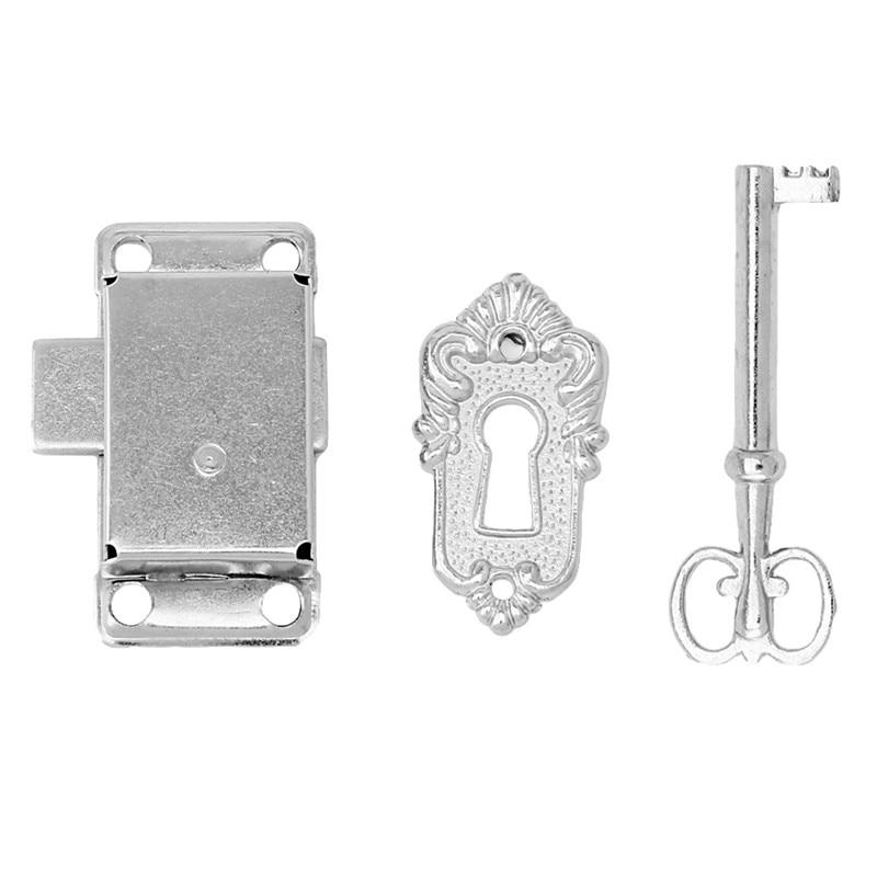 Wardrobe Cupboard Jewelry Box Drawer Cabinet Lock /& Key Set Hardware Zinc Alloy