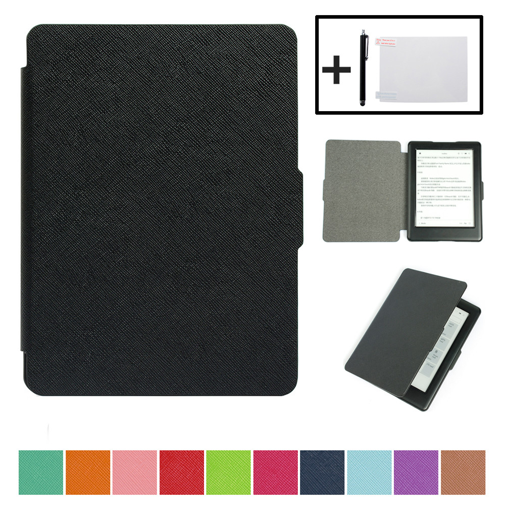 Magnetic Auto Sleep Slim Cover Case For KOBO Glo HD KOBO Touch 2 eReader 6.0incn +Free Gift  Convenience 17Aug31