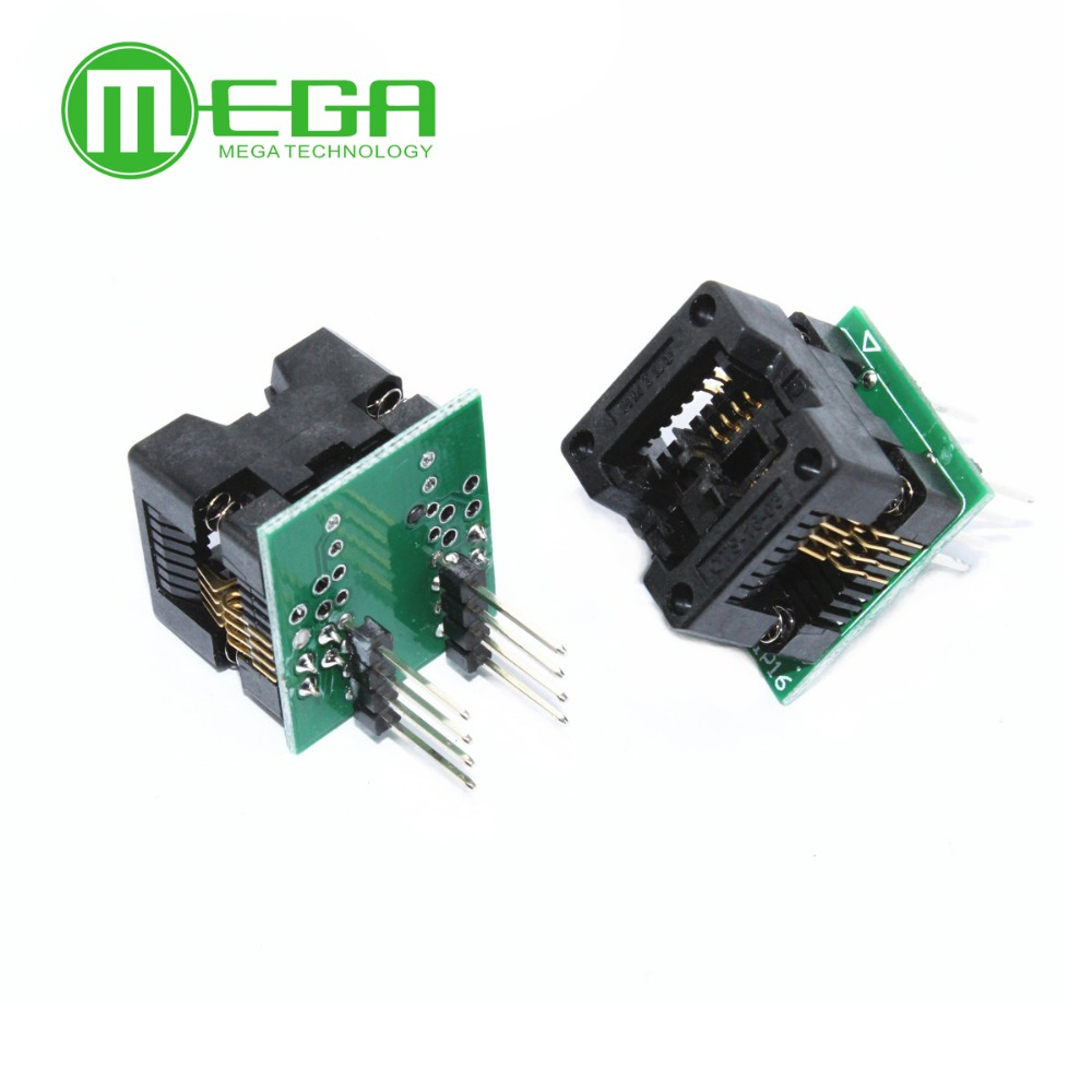 1pcs SOP8 to DIP8 SOP8 turn DIP8 SOIC8 to DIP8 IC socket Programmer adapter Socket for wide 150mil /208mil-in Integrated Circuits from Electronic Components & Supplies