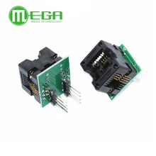 FREE SHIPPING SOP8 to DIP8 SOP8 turn DIP8 SOIC8 to DIP8 IC socket Programmer adapter Socket for wide 150mil ld7552bn ld75528n dip8