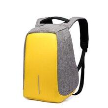 14 дюймов Водонепроницаемый Оксфорд зарядка через USB мужские и женские рюкзак Mochila для женщин школьная сумка пакет ноутбук Записные книжки XD Дизайн Бобби