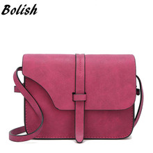 Bolish Fashion Women's Handbag Small Crossbody Bags Vintage Spring Female Shoulder Bag Nubuck Leather Women Bag