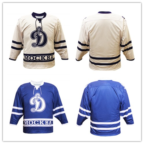 4a85f4773 Vintage Retro Dinamo Moscow HOCKEY JERSEY Embroidery Stitched Customize any  number and name Jerseys