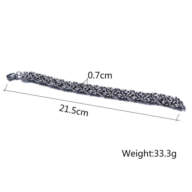 Meaeguet Fashion Stainless Steel O Chain Strand Bracelets & Bangles Vintage Sliver Color Bracelet For Men's Jewelry (5)
