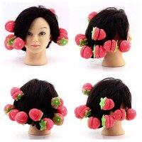 6pcs Rollers Curlers Strawberry Balls Hair Care Soft Sponge Lovely DIY Hair Curler Tool