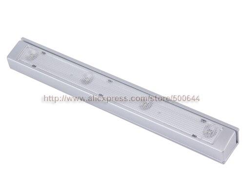 Wholesale 4 LED Motion Vibration Sensor Light Auto Shake Sensor Detector Lamp Cabinet Drawer Bedroom Energy Saving Night Light