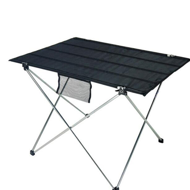Hot Ultra Light Folding Outdoor Table / Picnic Leisure Mesh Cloth Aluminum  Alloy Tube Barbecue Picnic Table