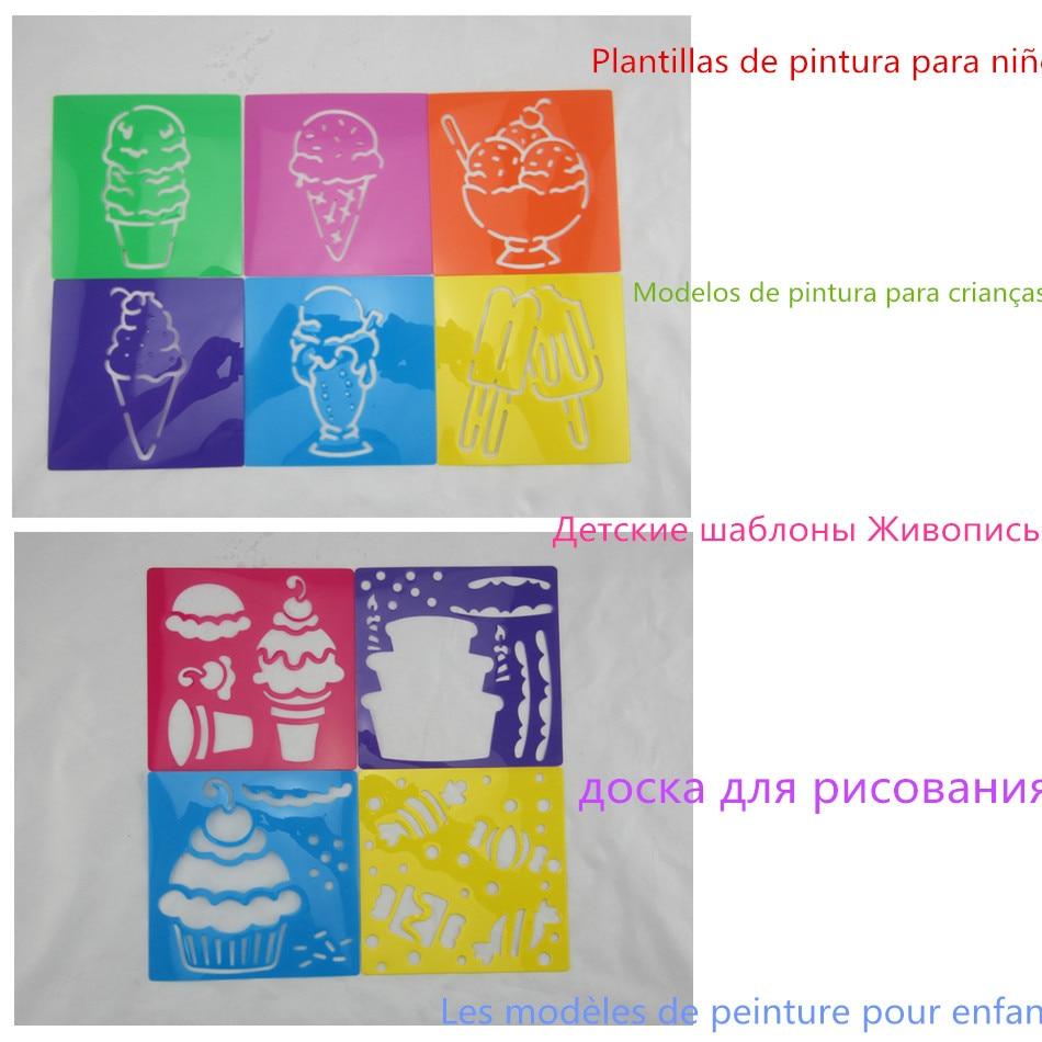 10 diseños/Lot dulce helado de helado para los niños pintura dibujo ...