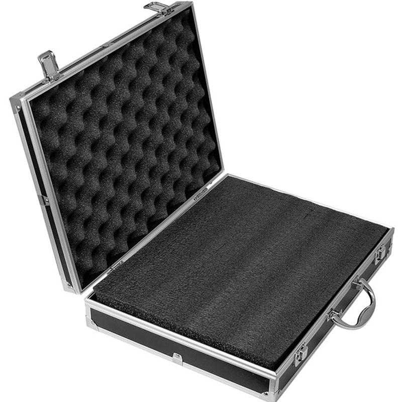 Multi-funktion Aluminium Legierung Werkzeug Box hardware toolbox hohe qualität Auswirkungen beständig sicherheit fall mit schaum futter 37x28,5x8 cm