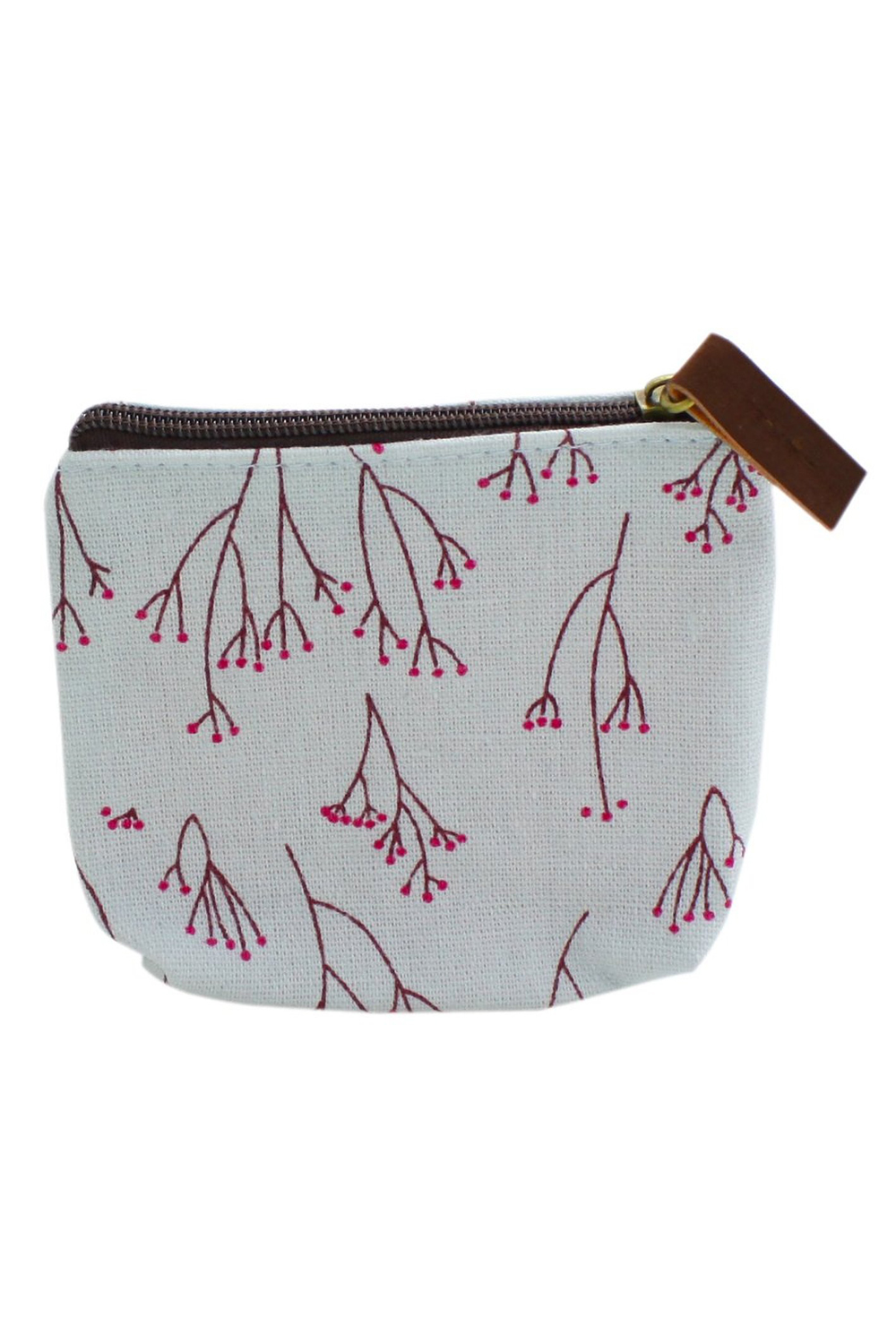 Lady Small Canvas Purse Wallet Coin(light blue)