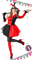 Harley Quinn Cosplay Costume Kids Adult Cos Halloween Stage Middle Age Beauty New Fashion Fit Figure Costume Drop Ship