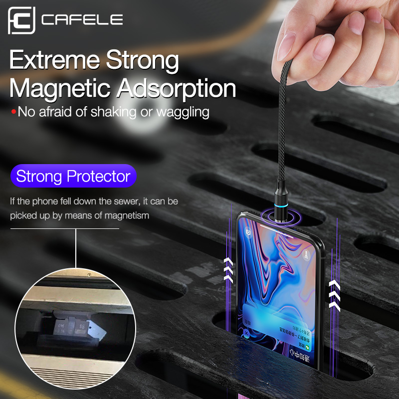 Image 5 - Cafele Magnetic Cable Micro USB Type C Magnet Charger 3A Fast Charging For iPhone Huawei Xiaomi Moible Phone Cables Data Wire-in Mobile Phone Cables from Cellphones & Telecommunications