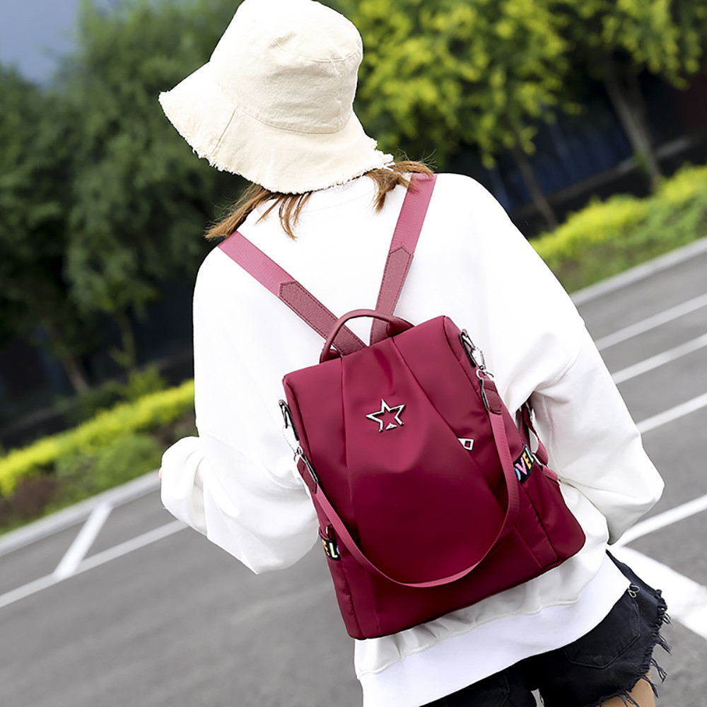 HTB1DFzhMgHqK1RjSZFPq6AwapXaH Masion Fabre Shoulder Bag Anti-theft Backpack Bag Personality Wild Oxford Cloth Small Backpack Bags For Women Mochila Feminina