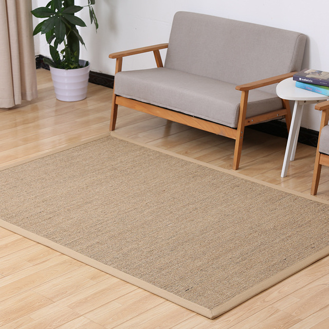 Imported Pure Natural Sisal Carpets For Living Room American Straws Mats Tatami Floor Mat Rugs Can Be Customized