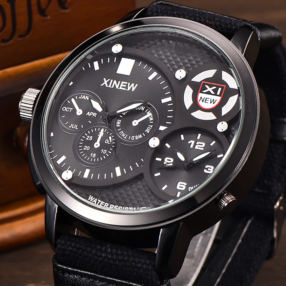 XINEW Men's Watch Couple 30M Waterproof Military Luxury Watch Sport Analog Quartz Mens Wristwatch Reloj Hombre Watch Mens 2019