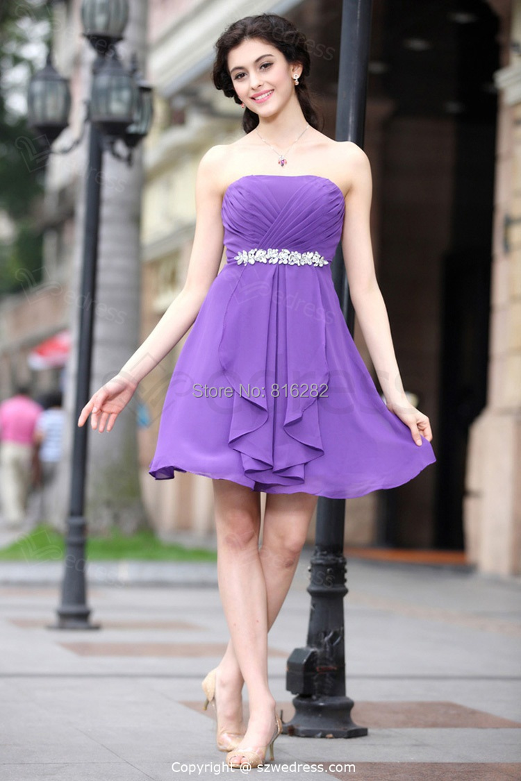 Online Get Cheap Short Prom Purple Dresses 2016 -Aliexpress.com ...