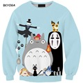 Fashion 3D print sweatshirts women Light Blue Color Cartoon Printed pullover long-sleeve o-neck clothing drop shipping
