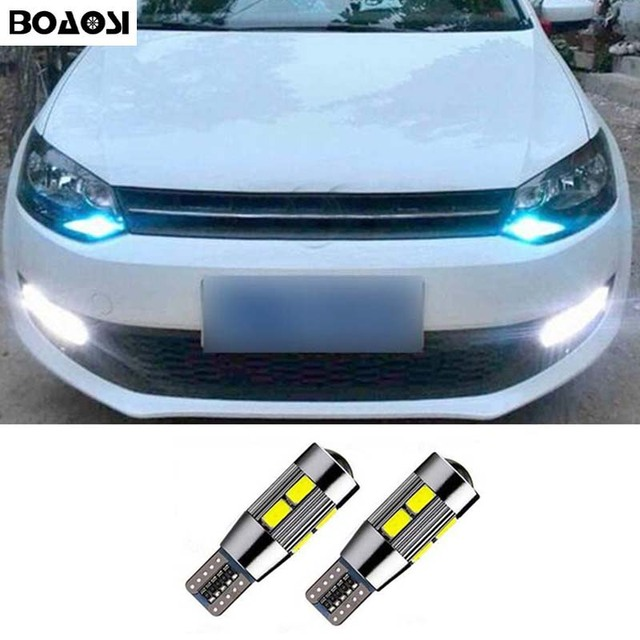 BOAOASI 2x T10 W5W LED Parking Verlichting Sidelight Geen Fout Voor ...