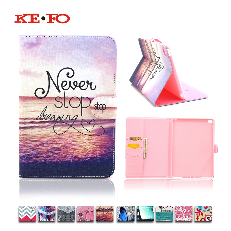 Cute Animal Beautiful Painted PU Leather Case cover For Apple iPad mini 4 mini4 tablet Cases With Card Slot A1538 A1550 For girl