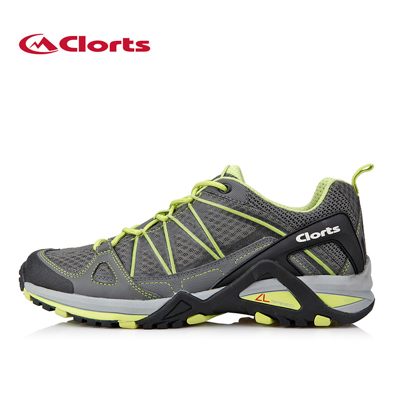 Clorts New Men Running Shoes Outdoor Athletic Shoes PU Mesh Runner Training Shoes Outdoor Trail Sneakers For Male Walking Shoes